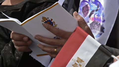 The April 29 Mass attracted some 15,000 worshippers to the Cairo stadium, a Vatican spokesman said.