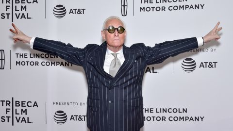 """Political consultant Roger Stone attends the """"Get Me Roger Stone"""" premiere during the 2017 Tribeca Film Festival on April 23, 2017 in New York City."""