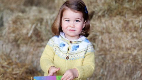 Charlotte is pictured at home in April 2017. The photograph was taken by her mother to mark her second birthday.