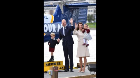 """Charlotte is held by her mother as her family ends <a href=""""http://www.cnn.com/2016/09/24/world/gallery/royals-visit-canada-sept-2016/index.html"""" target=""""_blank"""">an eight-day tour of Canada</a> in October 2016."""