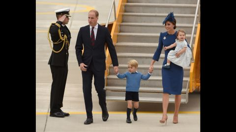 The royal family arrives in Victoria in September 2016.