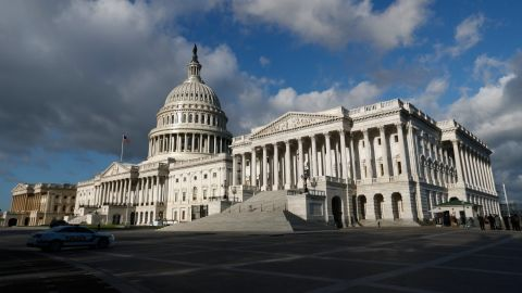 The Capitol is seen in Washington, Tuesday, May 2, 2017. Erasing the threat of a disruptive government shutdown, the White House and top lawmakers endorsed a $1.1 trillion spending bill to carry the nation through September, an agreement underscoring that Democrats retain considerable clout in Donald Trump's turbulent presidency. (AP Photo/Carolyn Kaster)