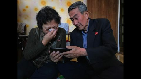 """The parents in North Korea of an inadvertent defector react to <a href=""""http://edition.cnn.com/videos/world/2017/04/30/nk-family-divided-ripley-pkg.cnn"""" target=""""_blank"""">a video message</a>, shared by CNN's Will Ripley, from their daughter, who lives in South Korea and cannot return home. The family hasn't been together in years."""