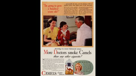 """By today's standards, the ads were shocking. In one ad, a """"doctor"""" describes how a little girl could live to 100 -- years longer than her mother -- while promoting the virtues of smoking.<br /><br />""""The none-too-subtle message was that if the doctor, with all of his expertise, chose to smoke a particular brand, then it must be safe,"""" SRITA said. Tobacco ads using images of health professionals like doctors, nurses and dentists ran from about 1935 through the early '60s."""
