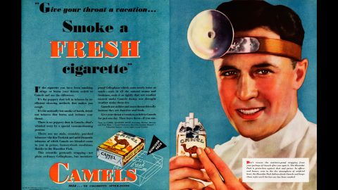 """Tobacco advertisers often used the depiction of an ear, nose and throat doctor to promote cigarettes. """"People in those days didn't know about lung cancer, but they knew that it was rough on your throat,"""" said Dr. Robert Jackler, founder of the <a href=""""http://tobacco.stanford.edu/tobacco_main/index.php"""" target=""""_blank"""" target=""""_blank"""">research group SRITA, or Stanford Research into the Impact of Tobacco Advertising</a>, which documents the history of tobacco advertising. """"They knew smoking irritates and makes you cough and gag. So having a throat doctor tell you it's OK to smoke was key to success in tobacco advertising and sales."""""""