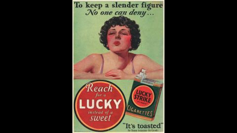 Tobacco companies also capitalized on smoking's tendency to reduce appetite. Many ads promoted the use of cigarettes as a tool for weight loss. Women were a prime target.