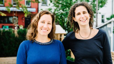 """Michelle MacRoy-Higgins and Carlyn Kolker are co-authors of """"Time to Talk."""""""