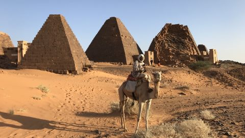 Visitors are able to camp at the footsteps of the pyramids overnight.  And sometimes they have to: there are no hotels or restaurants nearby.