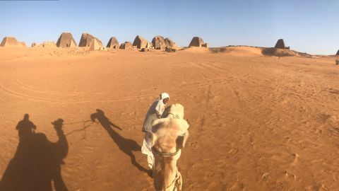 Tourists wishing to see the pyramids must travel in a jeep and then by camel or on foot to access the remote sites.
