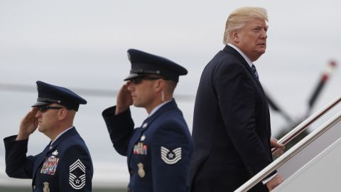 President Donald Trump boards Air Force One before his departure from Andrews Air Force Base, Md., Thursday, May 4, 2017. Trump is traveling to New York to meet for the first time with Australian Prime Minister Malcolm Turnbull.