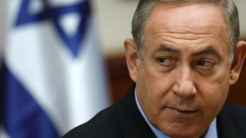 Israeli Prime Minister Benjamin Netanyahu attends a cabinet meeting in Jerusalem on March 16, 2017. / AFP PHOTO / POOL / AMIR COHENAMIR COHEN/AFP/Getty Images