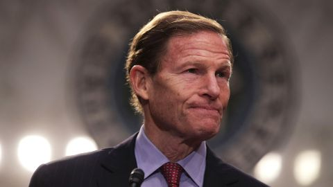 U.S. Sen. Richard Blumenthal participates in an anti-Gorsuch rally April 6, 2017 on Capitol Hill in Washington, DC. S