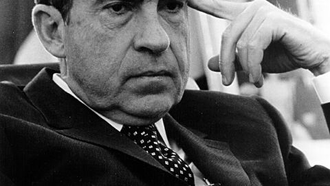 380450 26: President Richard Nixon in the Oval office February 19, 1970 in Washington, D.C. (Photo by National Archive/Newsmakers)