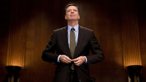 FBI Director James Comey prepares to testify before the Senate Judiciary Committee on Capitol Hill in Washington, DC, May 3, 2017. / AFP PHOTO / JIM WATSON        (Photo credit should read JIM WATSON/AFP/Getty Images)