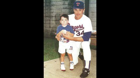 Ryan with his favorite baseball player, Nolan Ryan.