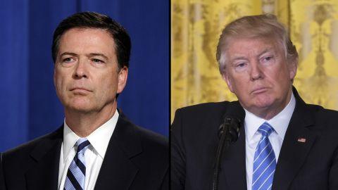 Comey Trump split
