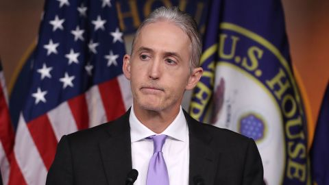 House Benghazi Committee Chairman, Trey Gowdy (R-SC), participates in a news conference with fellow Committee Republicans after the release of the Committee's Benghazi report on Capitol Hill June 28, 2016 in Washington, DC.
