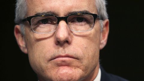 WASHINGTON, DC - MAY 11:  Acting FBI Director Andrew McCabe testifies before the Senate Intelligence Committee with the other heads of the U.S. intelligence agencies in the Hart Senate Office Building on Capitol Hill May 11, 2017 in Washington, DC. The intelligence officials were questioned by the committee during the annual hearing about world wide threats to United States' security.  (Photo by Alex Wong/Getty Images)