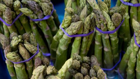 """The only vegetable on the list is also the most surprising entry. Asparagus creates 8.9 kilos of emissions per kilo produced, according to the NRDC. But how? <br /><br />The problem is mostly in the <a href=""""http://theplate.nationalgeographic.com/2016/02/09/the-surprisingly-big-carbon-shadow-cast-by-slender-asparagus/"""" target=""""_blank"""" target=""""_blank"""">air miles</a>. NRDC's Sujatha Bergen explains: """"Much of the asparagus in the United States is flown in from Latin America, which results in greater climate emissions than foods that are transported by trucks. While it's not the only produce item that is flown into the country, a higher proportion of it is transported this way than most other common fruits and vegetables (many of which we import from Mexico). In general, if people are looking to minimize their climate impacts, they should avoid air freighted foods as much as possible."""""""