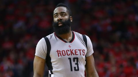 Since 1900, the name James has been in the top 20, but it hadn't cracked the top 10 since 1992. That changed in 2014, and it's in the fourth spot for 2017. It could have something to do with Houston Rockets point guard James Harden.