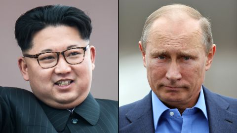 Kim Jong Un and Vladmir Putin