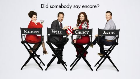 """Promotional art for the return of """"Will & Grace."""""""