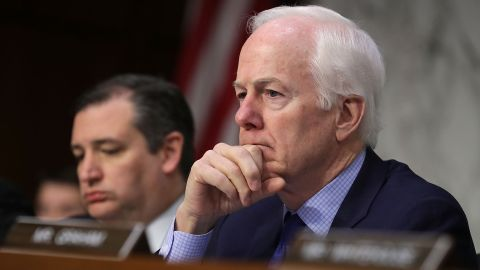 WASHINGTON, DC - MAY 08:  Senate Judicary Committee member Sen. John Cornyn (R-TX) listens to witnesses during a subcommittee hearing on Russian interference in the 2016 election in the Hart Senate Office Building on Capitol Hill May 8, 2017 in Washington, DC. Former acting Attorney General Sally Yates testified to the subcommittee that she had warned the White House about contacts between former National Security Advisor Michael Flynn and Russia that might make him vulnerable to blackmail.  (Photo by Chip Somodevilla/Getty Images)