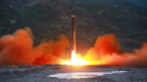 NK missile launch images from  Sunday, May 14 - state media Rodong Sinmun