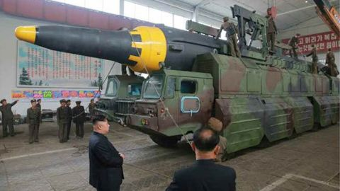 NK missile launch images from Rodong Sinmun