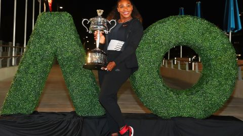 News of Williams' pregnancy meant she had won the Australian Open while in her first trimester.