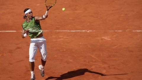 Nadal went into his first French Open as an inexperienced 18-year-old and emerged a grand slam champion -- beating Roger Federer in the semifinals on his 19th birthday. The 2005 season was the birth of what would go on to be Nadal's classic look: sleeveless top and three-quarter length shorts.