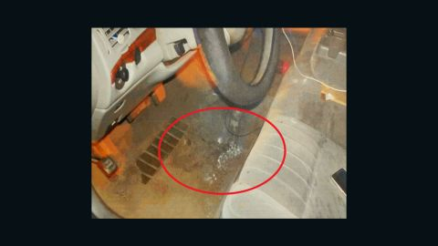 This police photo shows powdered fentanyl on the floor of a car seized during the Ohio arrest.
