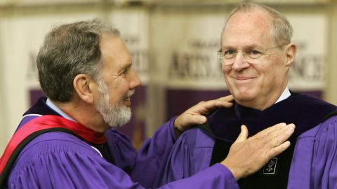 Kennedy receives an honorary degree at New York University in May 2006.