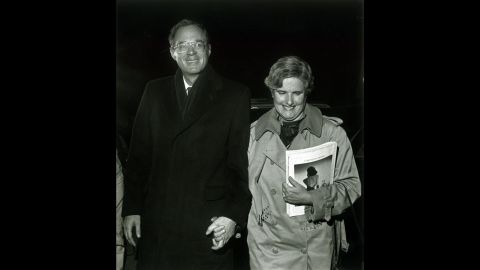 Kennedy and his wife walk together in Sacramento, California, in 1987.