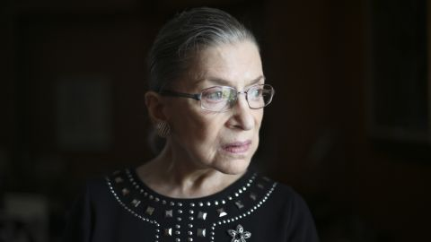 """Justice Ruth Bader Ginsburg in her chambers in Washington, Aug. 23, 2013. Ginsburg on July 14, 2016, apologized for her recent remarks about the candidacy of Donald Trump, saying """"On reflection, my recent remarks in response to press inquiries were ill-advised, and I regret making them."""""""