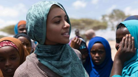 Kat Graham in Somalia.