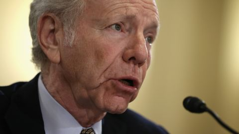 """WASHINGTON, DC - JANUARY 15:  Former U.S. Sen. Joseph Lieberman (I-CT) testifies during a hearing before the House Homeland Security Committee January 15, 2014 on Capitol Hill in Washington, DC. The committee held a hearing on """"A False Narrative Endangers the Homeland,"""" focusing on the administration's narrative on the threat from al Qaeda.  (Photo by Alex Wong/Getty Images)"""