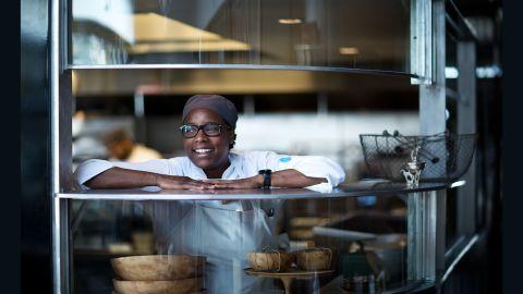 Chef Mashama Bailey Portrait for The Grey Restaurant 2015
