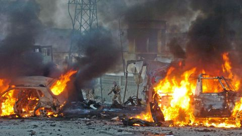 Several people were killed in Kabul after a pair of suicide bombings on November 14, 2005.