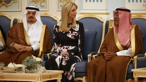 Ivanka Trump attends the medal ceremony.