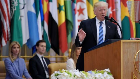 """Trump <a href=""""http://www.cnn.com/2017/05/21/politics/trump-muslim-speech-saudi-arabia/index.html"""" target=""""_blank"""">speaks in Riyadh during the Arab Islamic American Summit</a> on Sunday, May 21. Trump looked to make it clear that the United States is not at war with Islam. """"This is not a battle between different faiths, different sects or different civilizations,"""" he said. """"This is a battle between barbaric criminals who seek to obliterate human life, and decent people of all religions who seek to protect it. This is a battle between good and evil."""""""