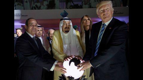 US President Donald Trump met with King Salman bin Abdulaziz al-Saud of Saudi Arabia and Egyptian President Abdel Fattah al-Sisi during his visit to Riyadh last month.
