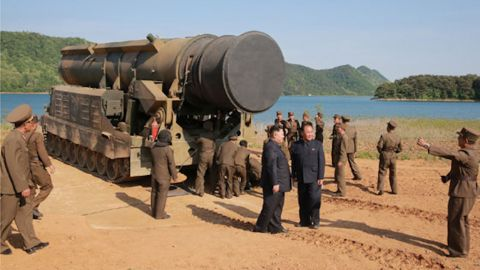 North Korean leader Kim Jong Un supervised the tests of the Pukguksong-2 missile, state-run media reported.
