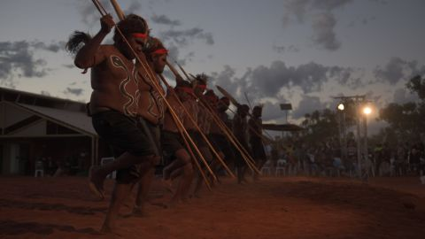 Opening ceremony of the First Nations National Convention held on Tuesday at Uluru in Australia's Northern Territory.