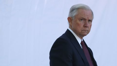 WASHINGTON, DC - MAY 09:  U.S. Attorney General Jeff Sessions waits to be introduced during a Bureau of Prisons Correctional Worker's Week Memorial Service at the National Law Enforcement Officers Memorial May 9, 2017 in Washington, DC. The Bureau of Prisons held the event to pay tribute to the agency's fallen heroes.