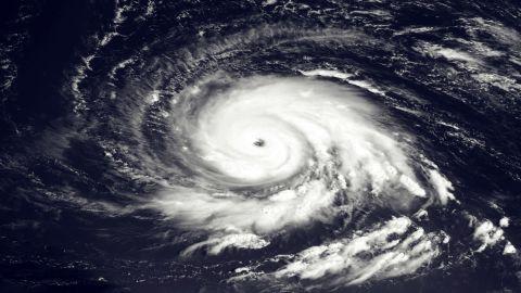 Hurricane Igor churns east of the northern Leeward Islands in September 2010.