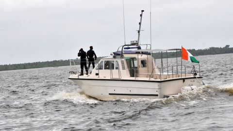 Coast guard officers on patrol in Ivorian waters. A recent report shows piracy has spread rapidly in West Africa.