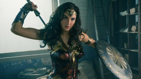 """Gal Gadot's Wonder Woman first made an appearance in the 2016 film """"Batman v Superman: Dawn of Justice."""" Her 2017 solo movie broke a box-office record for most money made by a film directed by a woman on its opening weekend."""