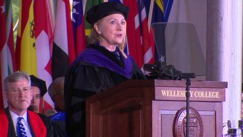 Hillary Clinton Trump impeachment comment wellesley commencement speech sot_00005815.jpg