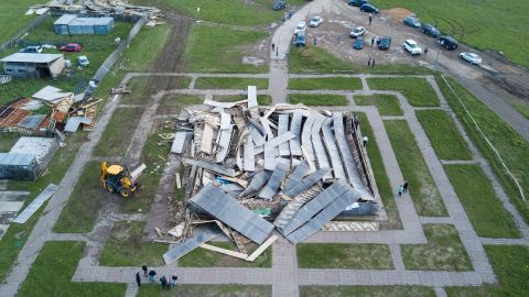Alexander Golod's pyramid in Istrinsky District, Moscow Region, was destroyed by the storm.